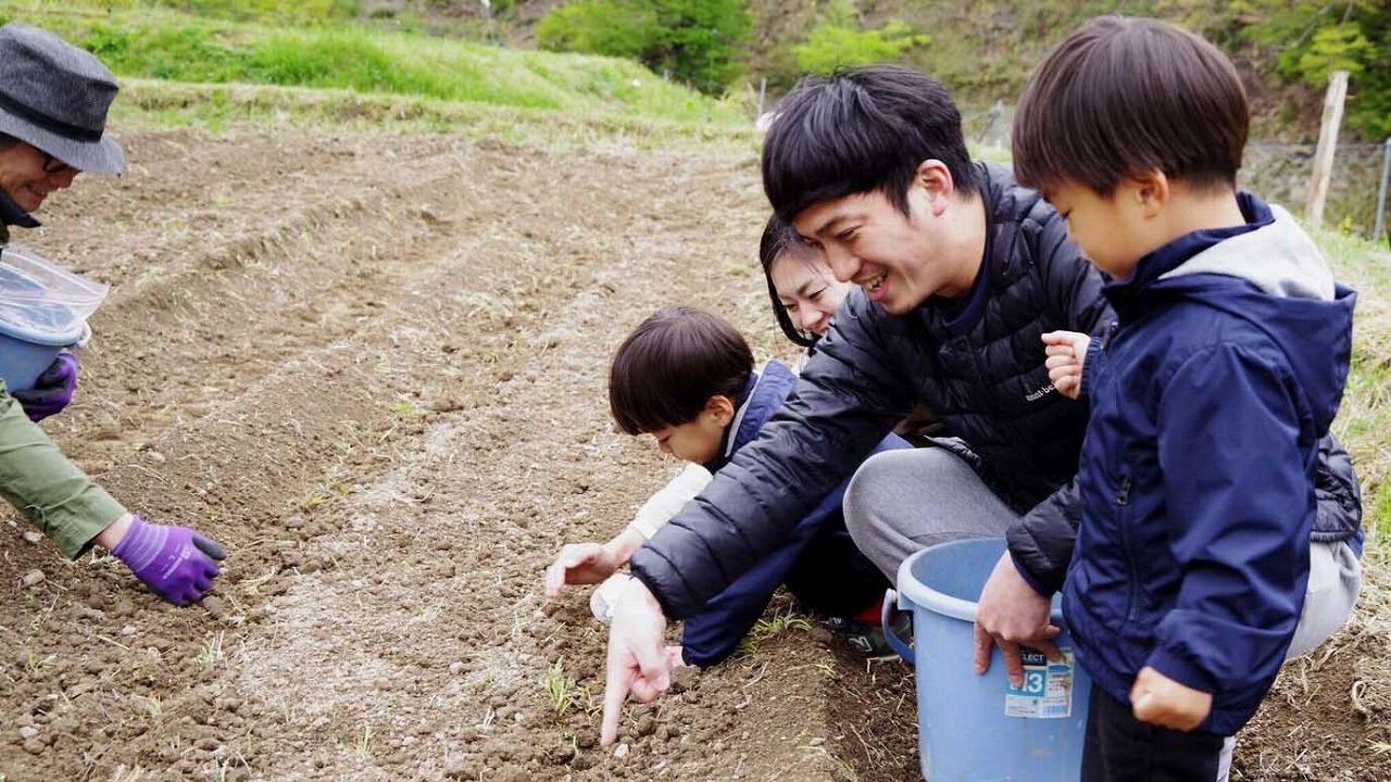 子供とリネンの種植2