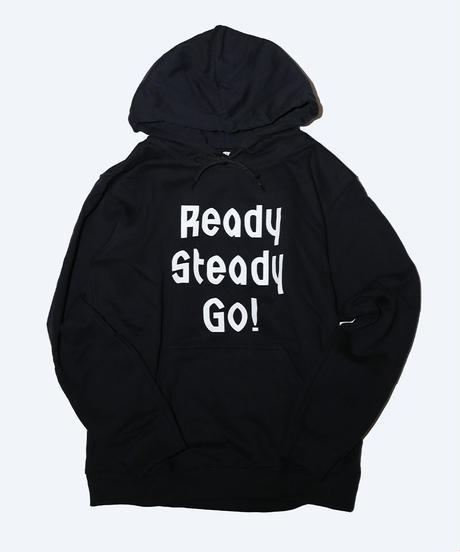 [READY STEADY GO]  Logo Hoody (Black/White)