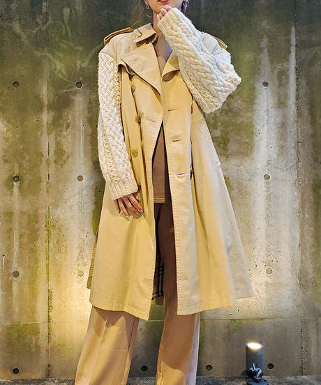 [Remake] Knit Sleeve Trench Coat