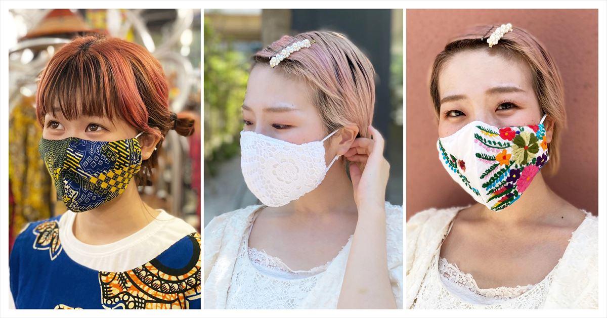 立体マスク着用画像