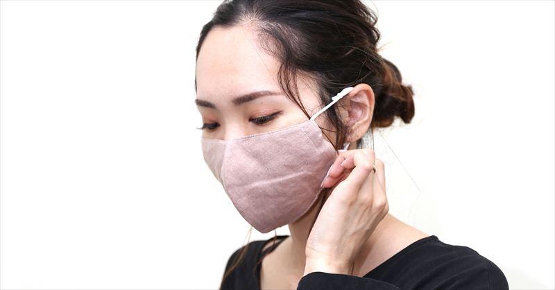 マスク着用画像