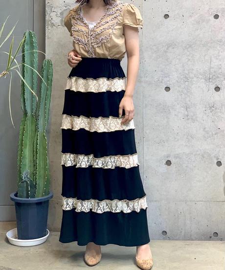 【RE;CIRCLE】Mellow × Lace Long Skirt