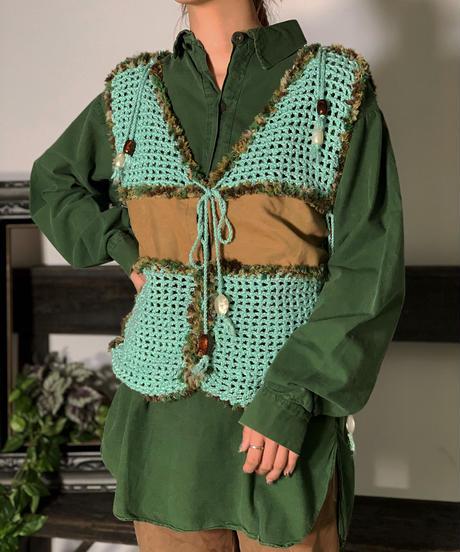 【Used】Net knitting Knit Vest