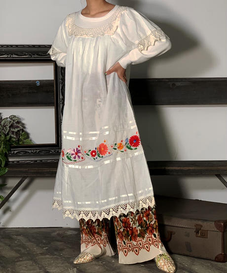 Mexcan Embroidery One-Piece