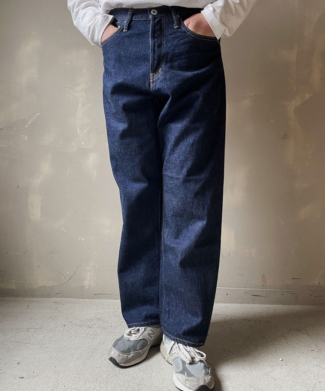 """【THE UNION】Big """"T"""" Denim Pants【THE BLUEST OVERALL】"""