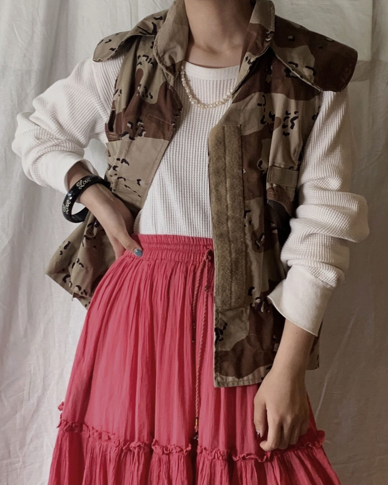 【USED】Camouflage Pattarned Amy Vest