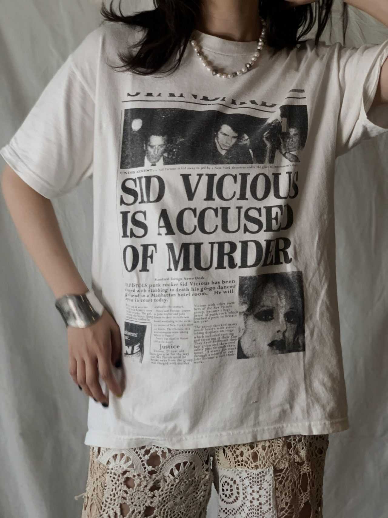 【USED】 S/S T-shirt SID VICIOUS