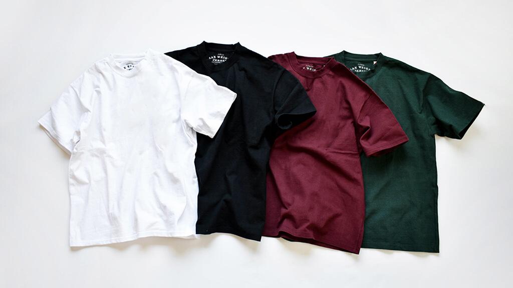 """国内生産のヘビーウェイトTシャツ""""MAX WEIGHT JERSEY""""から新色登場。"""